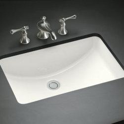 """KOHLER - KOHLER K-2214-0 Ladena 20-7/8"""" x 14-3/8"""" x 8-1/8"""" Under-Mount Bathroom Sink - KOHLER K-2214-0 Ladena 20-7/8"""" x 14-3/8""""x8-1/8"""" Under-Mount Bathroom Sink in White"""