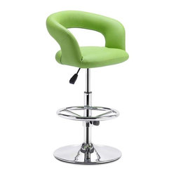 Flute Adjustable Barstool By Zuo Modern - Make your very own style statement with the fashionable and extremely attractive Flute Adjustable Barstool. With its unique and radiant design,this barstool will put the finishing touches on a magnificent home bar