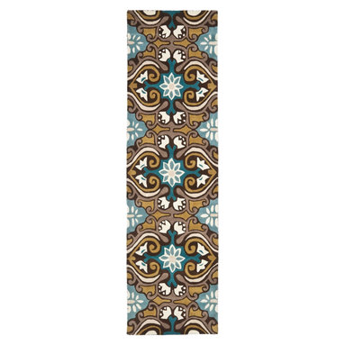 """Safavieh - Contemporary Wyndham Hallway Runner 2'3""""x9' Runner Blue - Multi Color Area Rug - The Wyndham area rug Collection offers an affordable assortment of Contemporary stylings. Wyndham features a blend of natural Blue - Multi Color color. Hand Tufted of Wool the Wyndham Collection is an intriguing compliment to any decor."""