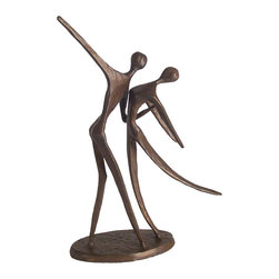 Danya B - Handcrafted Cast Bronze Modern Dancing Couple in Motion Sculpture - This gorgeous Handcrafted Cast Bronze Modern Dancing Couple in Motion Sculpture has the finest details and highest quality you will find anywhere! Handcrafted Cast Bronze Modern Dancing Couple in Motion Sculpture is truly remarkable.
