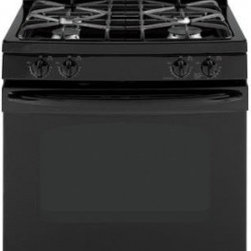 "GE - JGB281DERBB 30"" Freestanding Gas Range with 4 Sealed Burners  5.0 cu. ft. Self-C - The GE free-standing range configuration is designed to fit common cutouts and is easy to install The control panel is above the cooktop surface placed in the back of the stove GE Appliances invented and patented the first self-clean oven in 1963 The..."