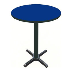 Correll Inc - Round Cafe Breakroom Top in Blue (42 in./Blue - Finish: 42 in./BlueColumn and base not included. Pictured in Blue. 24 in.. 30 in.. 36 in.. 42 in.. 48 in.. 60 in.
