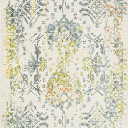 "Loloi Rugs - Loloi Rugs Lyon Collection - Ivory / Slate, 7'-7"" x 10'-5"" - If you enjoy admiring artwork on the wall, you may want to consider the Lyon Collection as as painterly masterpiece for your floor. From Egypt, these contemporary rugs have been inspired by Western European and South American watercolor paintings. And because they're power loomed of 100% polypropylene, a durable and stain resistant fiber, the colors will remain vibrant for years ahead."