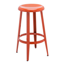 Sunpan - Sunpan Declan Counter Stool - 74095 - Shop for Stools from Hayneedle.com! Counter spaces never looked so colorful with the Sunpan Declan Counter Stool. The perfect addition to any condo or loft space this brilliant counter stool is made of durable steel and painted in a variety of colors to choose from. Its classic modern style creates a welcome statement within any decor.About SunpanSunpan is a global furniture company. They specialize in designing and manufacturing contemporary- and transitional-style furnishings. Sunpan takes pride their designs which reflect international trends in fashion and interior design. Sunpan is the ideal choice for your modern home.
