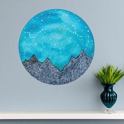 My Wonderful Walls - Scorpio and Taurus Constellations Decal - Nature Wall Art by Elise Mahan, Small - - Product:   astronomy wall sticker astrology wall decal