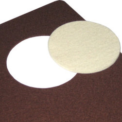 The Felt Store - Brown Designer Felt  Placemat With White Coaster 13.75 x 17.75 Inch - Decorate your home with environmentally friendly, yet beautiful furnishings! The Designer Felt Placemat and Coaster is made of 100% wool Designer Felt, showcasing the natural beauty of felt. You choose the color of the die cut coaster to create your very own color contrast. The Designer Felt is water resistant, adding enhanced longevity to your placemats. Cut with a rounded edge and dyed in rich hues, the Designer Felt Placemat and Coaster set have a modern yet natural look to complement any home. Placemat is approximately 13.75 inches x 17.75 inches at 3mm thick, and the coaster is 3.5 inches in DIA and 3mm thick.