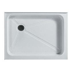 Vigo Industries - Vigo Rectangular Shower Tray White (Left Drainage) - This Vigo shower tray serves as an excellent solution to prevent leaks for your custom or pre-built shower enclosure.