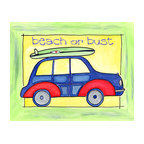 Oh How Cute Kids by Serena Bowman - Beach or Bust, Ready To Hang Canvas Kid's Wall Decor, 8 X 10 - Come on Sunshine and Warm Weather!!