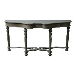 NOIR - NOIR Furniture - Chateau Sofa Table in Weathered - GCON127WEA - Features: