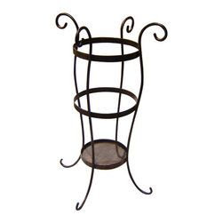 Iron Artistica - Iron Artistica Umbrella Stand on Sale - The Iron Artistica umbrella stand is a beautiful and practical addition to any home. It has lovely flowing lines and hand-crafted beauty. Its a perfect gift item, too! Now On Sale! Additional Discounts may not apply to this item.