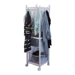 Above Edge Inc. Multi Function Laundry and Storage Station - 3 Hampers in 1 station with multiple side pockets for smaller items