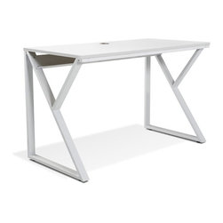 Jesper - Jesper - Tribeca Collection - White Writing Desk - White - Jesper Office specializes in making modular office furniture for the home and small business, along with a complementary line of modular library and home entertainment furniture. The company, originally based in Denmark, has been designing and manufacturing high quality furniture since 1935. Today, Jesper Office is based in Branchburg, New Jersey where it maintains a U.S warehouse and sales office along with several manufacturing facilities overseas.