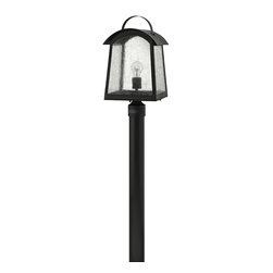Hinkley Lighting - Black 1 Light Post Light from the Putney Bridge Collection - Hinkley Lighting 2651BK Putney Bridge Post Light This product by Hinkley Lighting comes in a black finish. Features etched opal glass. Works with one 10