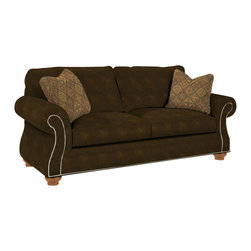 Broyhill - Broyhill Laramie Brown Queen Goodnight Sleeper Sofa in Attic Heirlooms - Broyhill - Sleeper Sofas - 50817Q - About This Product: