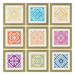 Paragon - Quilt PK/9 - Framed Art - Each product is custom made upon order so there might be small variations from the picture displayed. No two pieces are exactly alike.