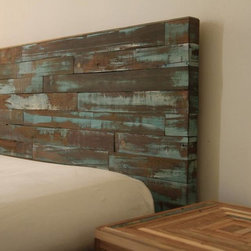 Reclaimed wood headboard -