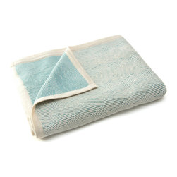 Sefte Living - Sefte Kimsa Baby Blanket Blue - Warm smiles, soft hugs and a warm embrace all come with this incredibly soft baby blanket. Handcrafted by Peruvian artisans, it offers an ecofriendly embrace while your infant sit and sleeps in the lap of luxury.