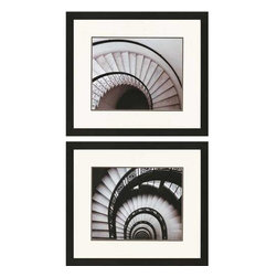Paragon Art - Paragon Stairways ,Set of 2- Artwork - Stairways ,Set of 2            ,  Paragon Artist is Christensen , Paragon has some of the finest designers in the home accessory industry. From industry veterans with an intimate knowledge of design, to new talent with an eye for the cutting edge, Paragon is poised to elevate wall decor to a new level of style.