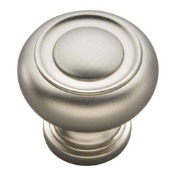 Hickory Hardware - Cottage Satin Nickel Cabinet Knob - Bridges contemporary and traditional design.  Offering a deep rooted sense of history in some, with an updated feel and cleaner lines.
