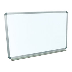 "Luxor - Luxor Wall mounted Whiteboard - WB3624W - The Luxor WB3624W Wall mounted series are made from painted steel magnetic whiteboard. Board Dimensions are 36"" x 24"" and includes mounting brackets and hardware (suitable for installation of drywall). There is aluminum frame around the board and an aluminum tray at 2"" deep to hold dry eraser and markers. There is a 10 year warranty on the board."