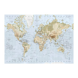 Premiär Picture, World Map - I always incorporate a large map somewhere in my home's decor; not only does it fill up a lot of wall space and look good, it's educational to boot. What's not to like?
