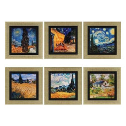Paragon Art - Paragon Van Gogh ,Set of 6 - Artwork - Van Gogh ,Set of 6             ,  Paragon Textured Print       Artist is Van Gogh , Paragon has some of the finest designers in the home accessory industry. From industry veterans with an intimate knowledge of design, to new talent with an eye for the cutting edge, Paragon is poised to elevate wall decor to a new level of style.
