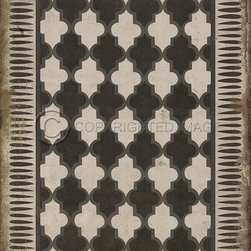 flooring - These wonderful vintage designs are printed on durable, certified non-slip, lay flat vinyl flooring that may be used indoors as well as outdoors. Use them in kitchens, hallways, entry areas, game rooms, basements, patios, decks, any high traffic area where you need some decorative, durable flooring. It's an easy way to add some pizzazz to the room and floor! various sizes available. Can be purchased in 8 foot wide sections and can be glued to floor.  ***New pricing 23% lower!***