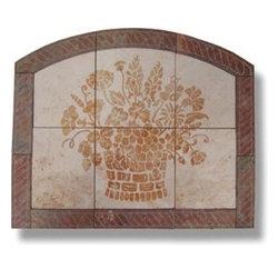 "Custom Arched Wildflower & Fruit Basket - Design: Custom Arched Wildflower & Fruit Basket with 3"" Rope Border"