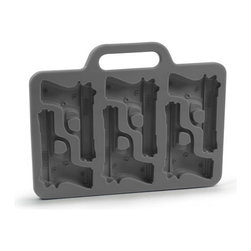 Fred Freeze Handgun Silicone Ice Tray - Is your drink packin' heat? Well cool it down with Freeze! Pop a few rounds of these finely-tooled ice cubes into your beverages and watch things cool down. They're just the thing for fully-loaded drinks!