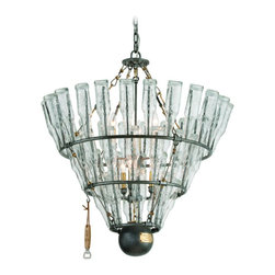 Troy Lighting - Troy Lighting F3946 121 Main Single Tier Chandelier - Wrought Iron Single Tier Chandelier in Old Silver With Bras from the 121 Main Collection by Troy Lighting.