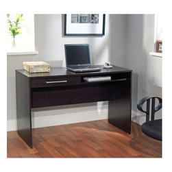 Simple Living - Simple Living Taylor Writing Desk - This modern Taylor writing desk is ideal for the home office or dorm room with ample space for computing and paperwork.