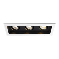 WAC Lighting - MT-3LD311R 3-lt Mini LED Multiple Spot Remodel Housing and Trim - MT-3LD311NA 3-lt Mini LED Multiple Spot New Construction Housing and Trim