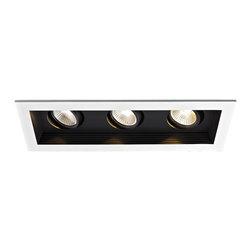 WAC Lighting - MT-3LD311R 3-lt Mini LED Multiple Spot Remodel Housing and Trim - MT-3LD311NA 3-lt Mini LED Multiple Spot New Construction Housing and Trim