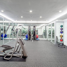 Contemporary Home Gym by dRichards Interiors