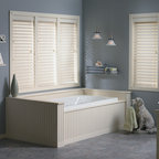 """Bali® Wood Images 2 1/2"""" Faux Wood Blinds - Wood Images capture the essence and look of real wood blinds, while the moisture resistant slats are perfect for high humidity areas."""