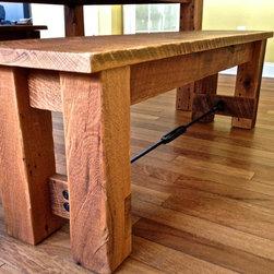 Reclaimed Oak Harvest Table - czwoodworking.com