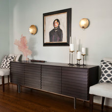 Contemporary Dining Room by Angela Flournoy