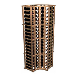 Wine Cellar Innovations - Designer Series Wine Rack - Curved Corner - The 90 degree Curved Corner wooden wine rack allows your racking to make a flowing transition from wall to wall.