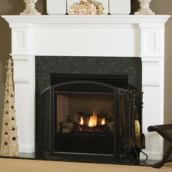 Carrington Wood Fireplace Mantel - Sophisticated and contemporary, the Carrington Wood Mantel is available in both custom or standard sizes. Made of high quality materials, select any number of colors or finishes including Poplar for Painting, Poplar for Staining, Pine, Maple, Oak and Cherry for staining.