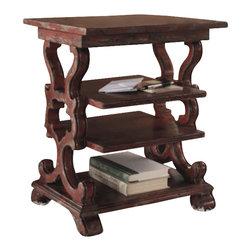 Hooker Furniture - Hooker Furniture Sanctuary Rectangular Accent End Table in Rustic Red - Hooker Furniture - End Tables - 300350002 -Pursue serenity at home�Create your own personal sanctuary, a special place where you can experience�comfort within.