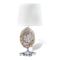 Petrified Wood Modern Rustic Forest Lamp - This lamp would be at home in any room of my — er, your house.