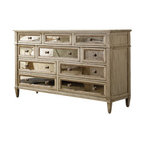 Hooker Furniture - Ten Drawer Dresser, Pearl Essence - Like the pearl shine of its finish, this dresser is cultured and one of a kind. Ten drawers are lined in a combination of plain wood, cedar and felt to store whatever you need, in a piece soon to become a cherished hand-me-down.