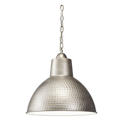 Kichler Lighting - Kichler Lighting 78200AP Missoula Transitional Pendant Light - This refined 1 light Missoula™ lamp features a classic Antique Pewter finish and metal detailing to create an elegant accent for any space in your home.