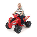 Fun Wheels - Fun Wheels Step-2 Super Quad Battery Powered Riding Toy - Red - 07RS2 - Shop for Tricycles and Riding Toys from Hayneedle.com! Sleek and fun and totally realistic the Fun Wheels Step-2 Super Quad Battery Powered Riding Toy Red has everything for kids on the go. This rechargeable vehicle is loaded with features dual speeds working headlights a real horn pedal control. Powered by a rechargeable 12-volt battery. Playtime: 1-2 hours.