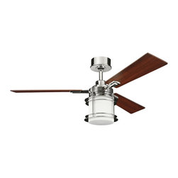 Kichler Lighting - Kichler Lighting 300157PN Pacific Edge 1 Light Indoor Ceiling Fans in Polished N - 52 Inch Pacific Edge Fan