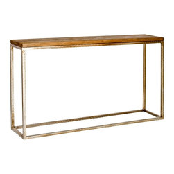 Worlds Away - Plankton Wood  Console - Silver - 30in h x 55in w x 12in d
