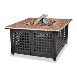 Uniflame - Uniflame GAD1200B Lp Gas Outdoor Firebowl w/ Granite Mantel - Lp Gas Outdoor Firebowl w/ Granite Mantel belongs to Outdoor Living Collection by Uniflame
