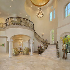 Traditional Staircase by Anything But Plain, Inc.