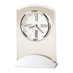 HOWARD MILLER - Tribeca Alarm Clock - Slightly arched at the top, this alarm clock features beveled glass.