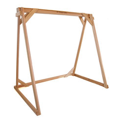 All Things Cedar - Cedar Swing A-Frame - Our Triple Beam Header A-Frame is designed to be used with swings up to 90 inches wide. When ordered with optional PS60U swing you get all hanging hardware including Chain, quick links and eyebolts to have you up and swinging in no time. : DIMENSIONS : 92w x 48d x 68h  (unassembled kit)